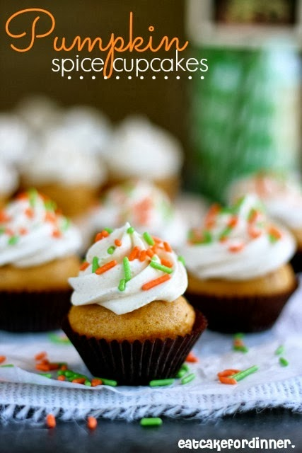 ... Cake For Dinner: Pumpkin Spice Cupcakes with Whipped Spice Frosting