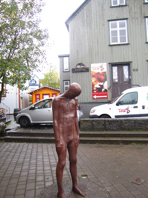 Sculpture in Reykjavik, Iceland by Stienunn Thorarinsdottir.