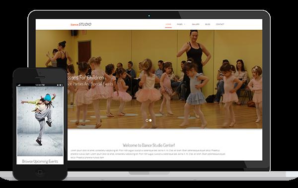 Dance Studio – Responsive HTML Template