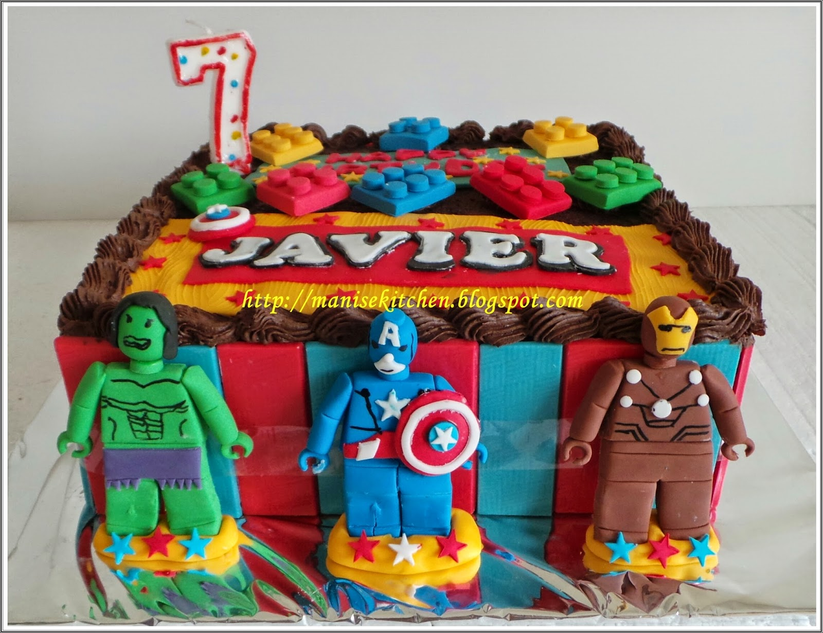 Manise Kitchen Lego Superhero Birthday Cake For Javier