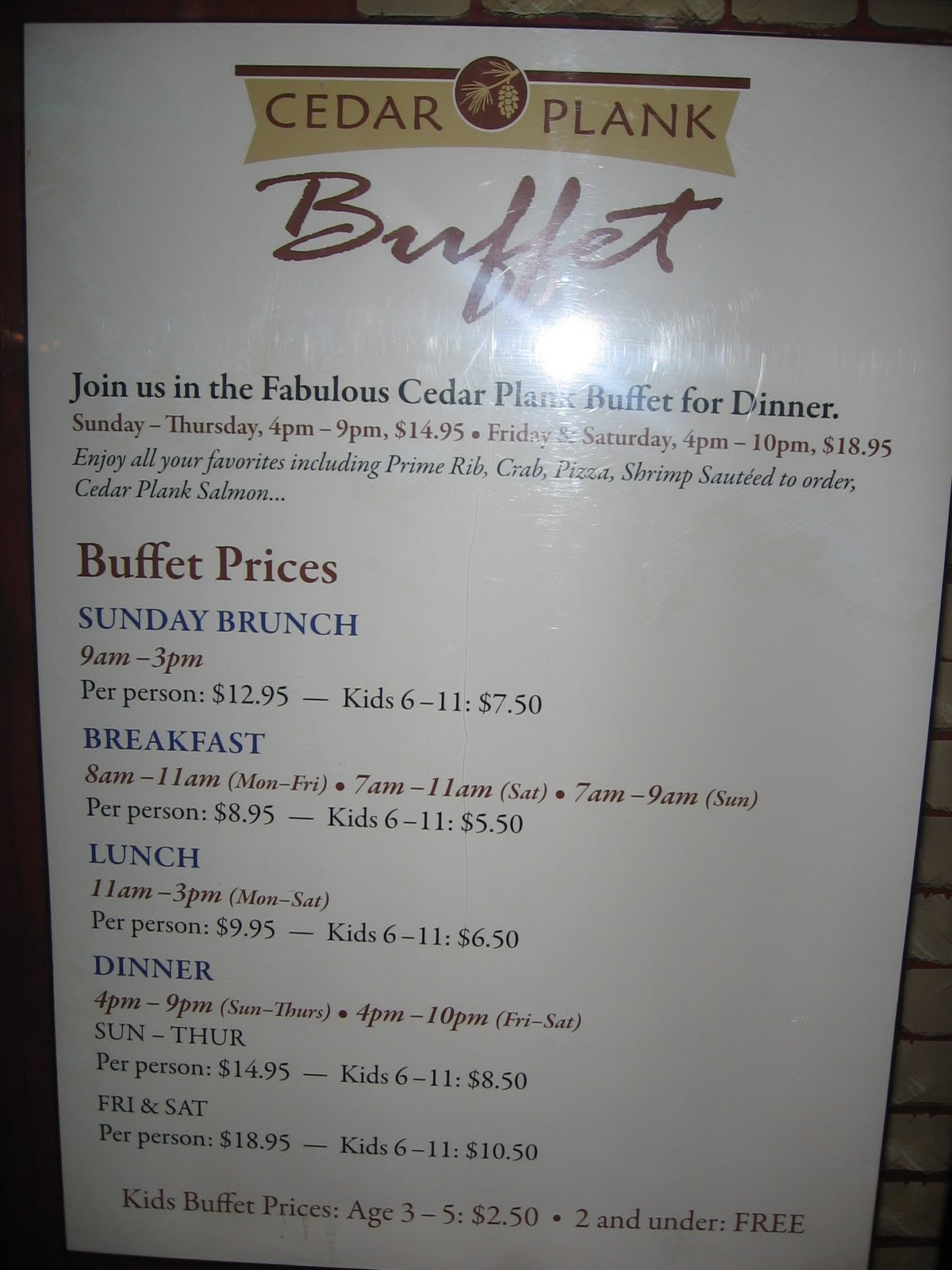spirit mountain casino buffet hours
