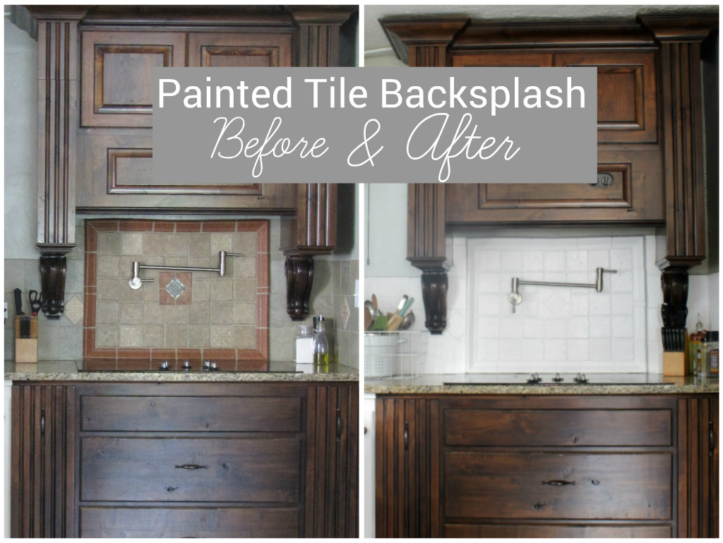 I painted our kitchen tile backsplash the wicker house dailygadgetfo Choice Image