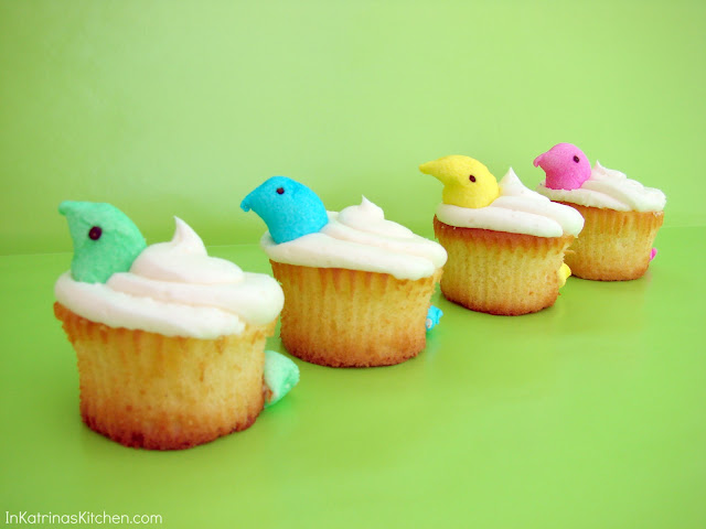 Peeps Peek-a-Boo Cupcakes SO easy!!