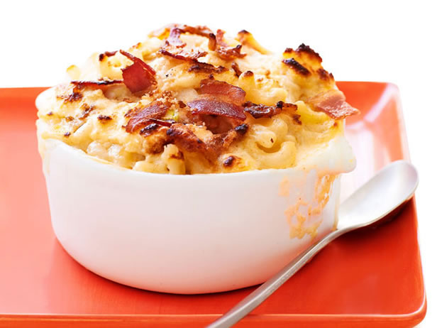 My Favorite Things: Dressed-Up Bacon Mac and Cheese