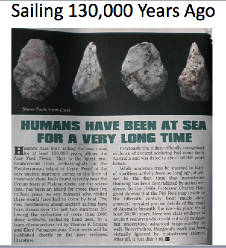 Humans Have Been at Sea a Long Time