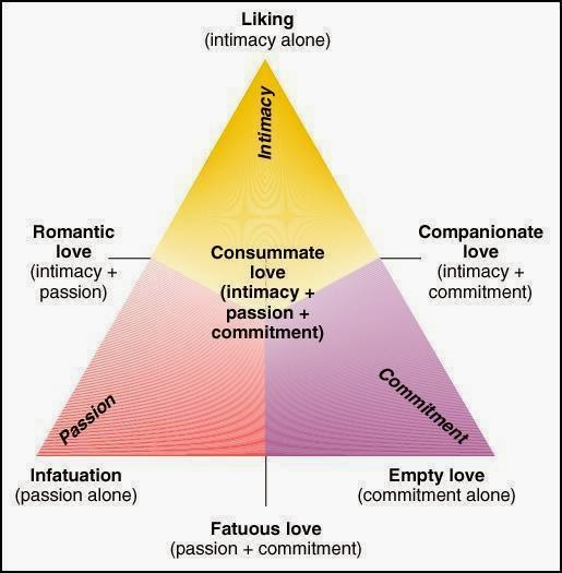 The triangle theory of love