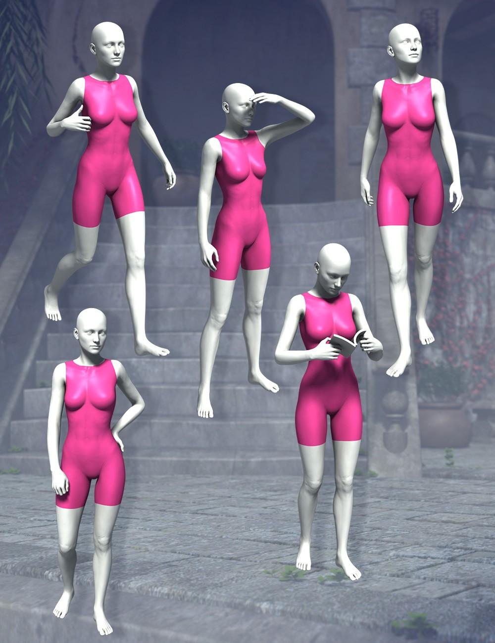 3d Models - The Tourist Bundle and Victoria 6 The Tourist Poses