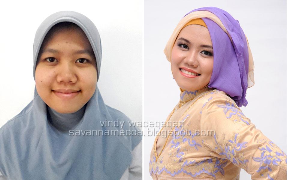 Ini Vindy Yang Ajaib: Before After Makeover : Wisuda Hijab