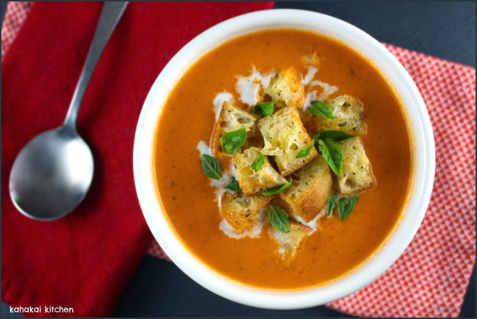 Kahakai Kitchen: Creamy, Spicy Tomato Soup (Zuppa Di Pomodoro Piccante ...