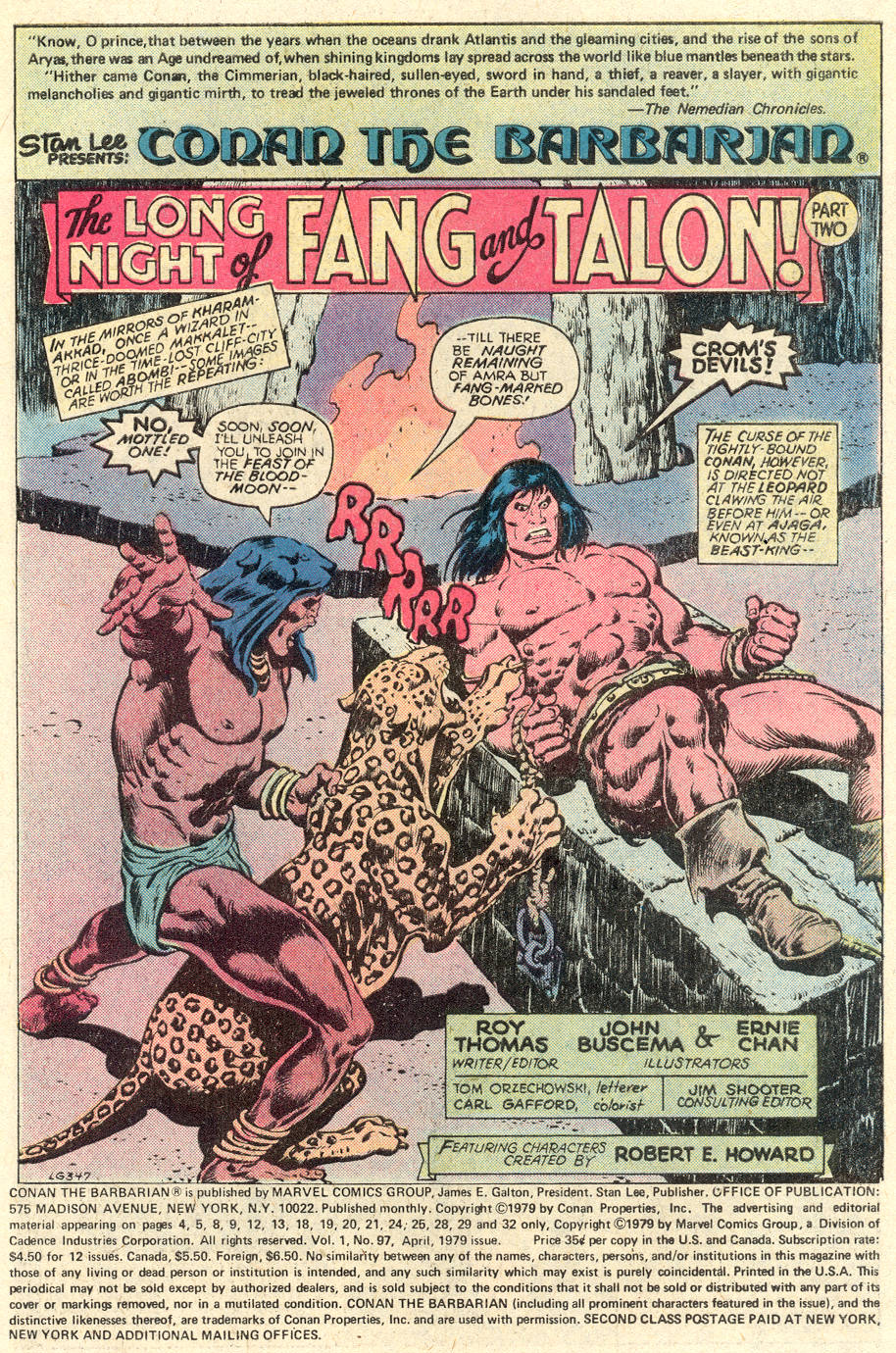 Conan the Barbarian (1970) Issue #97 #109 - English 2