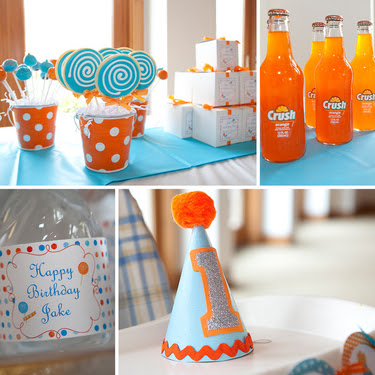 ingrid rhodes styled events modern orange and blue 1st birthday