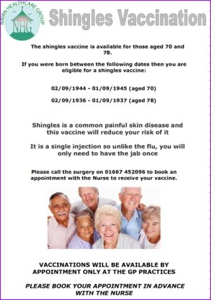 Shingles Vaccination Nairn Healthcare