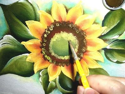 pintura em tecido girassol passo a passo como fazer