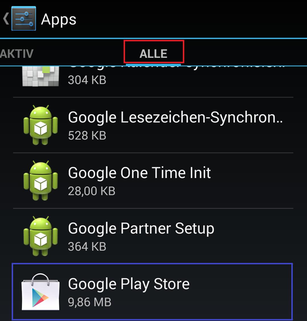 kann keine apps installieren android