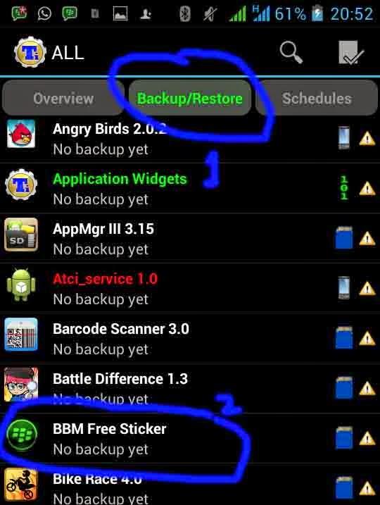 BBM Free Sticker Titanium Backup