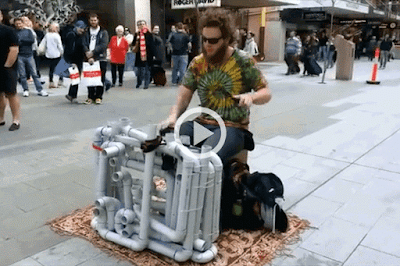 Watch This Guy Playing House Trance and Techno Music using Pipes