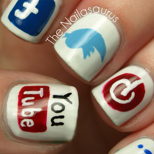 Social Media Nails by The Nailasaurus