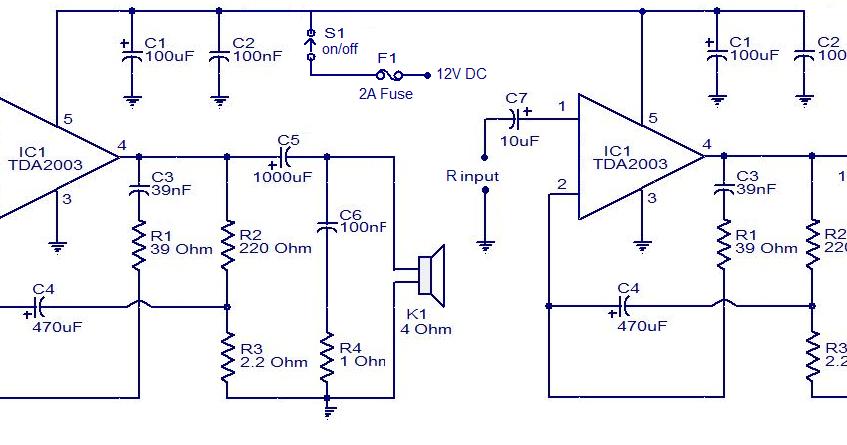 car audio amplifier using tda2003 upcomingcarshq com
