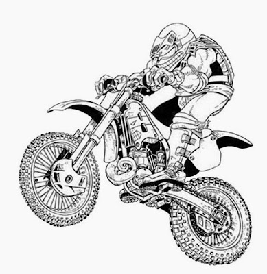Spider-Man Coloriage Moto