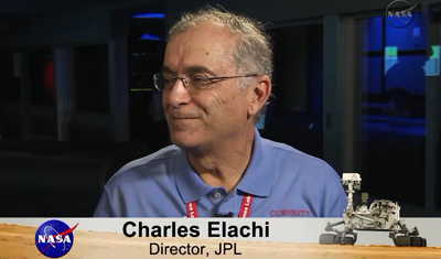 Curiosity MSL lands on Mars. Charles Elachi, Director of JPL comments on touchdown on Mars. 6 August 2012. NASA/JPL.