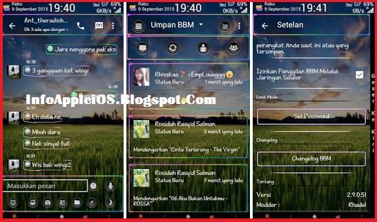 BBM MR neon transparent Update v 1.1 Base version 2.9.0.51 Apk