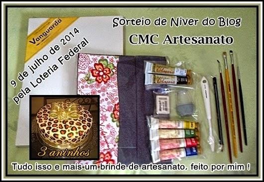 Sorteio da Minda Blog CMC Artesanato