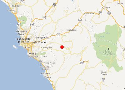 epicentro del temblor de hoy 16 marzo 2012 en Lima, Perú