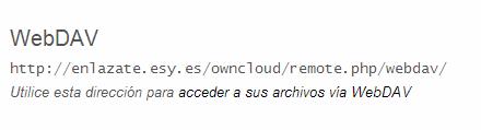 webDAV para ownCloud