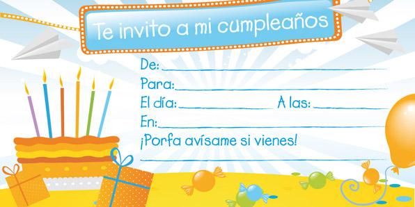 Invitaciones de cumplea os para imprimir tarjetas de - Ideas para cumpleanos 10 anos ...