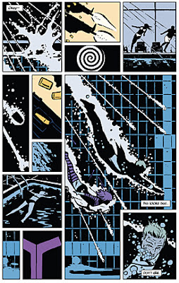 David Aja, Hawkeye #2, page 1 [Hawkeye: My Life as a Weapon]
