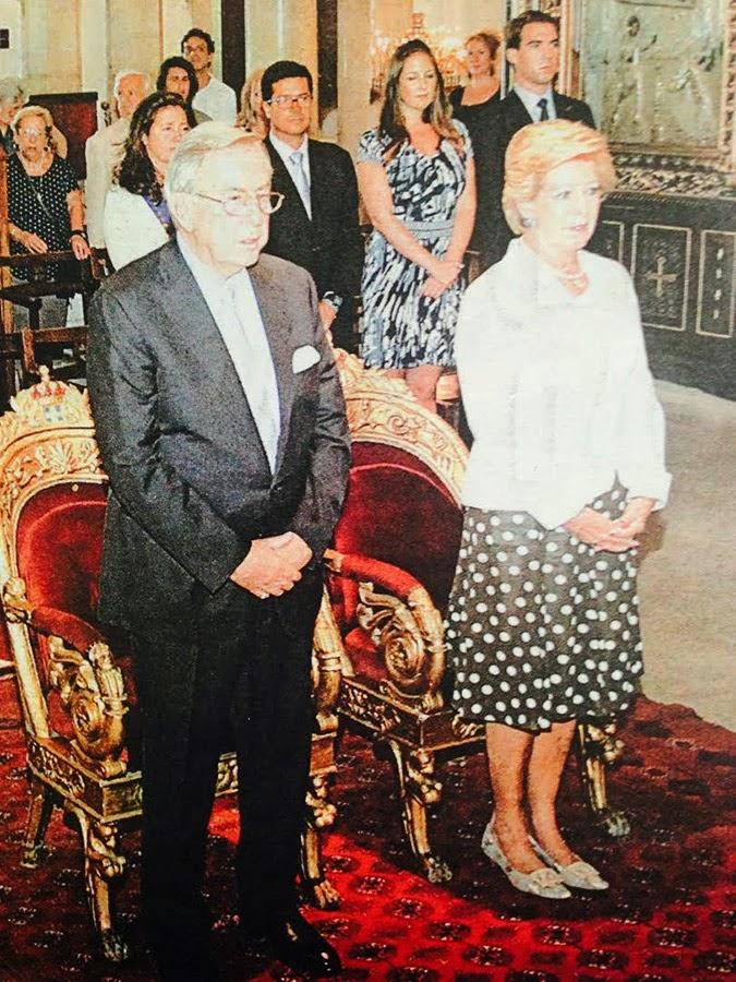 Ανοιξαν μεχρι και την ...κλειστη Μητροπολη για να γιορτασει το φαντασμα του τεως τα 50 χρονια γαμου
