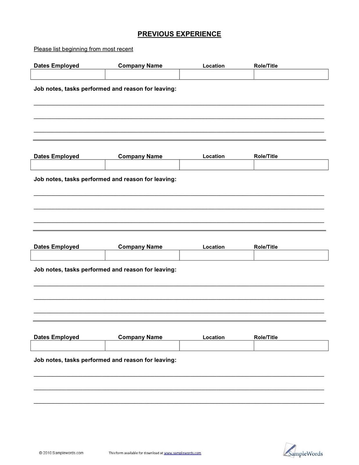 Employee Please Print Fill Out And Return This Application If picture