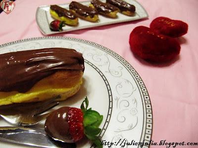 Nutella Chocolate Éclairs with Custard إكلير الكاسترد وشوكولاتة نوتيلا