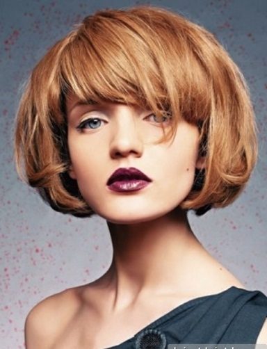 Angled Bob With Side Swept Bangs Bob hairstyles - bob haircuts