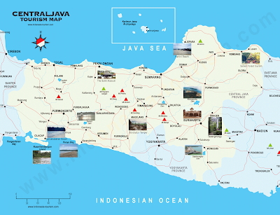 Central Java Tourism Map