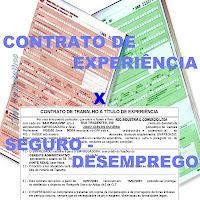 O seguro-desemprego nas demissões no contrato de experiência.