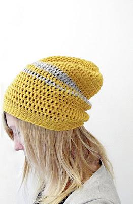 free crochet pattern urban slouchy beanie