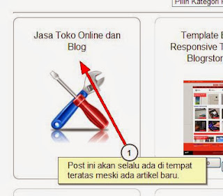 contoh sticky post