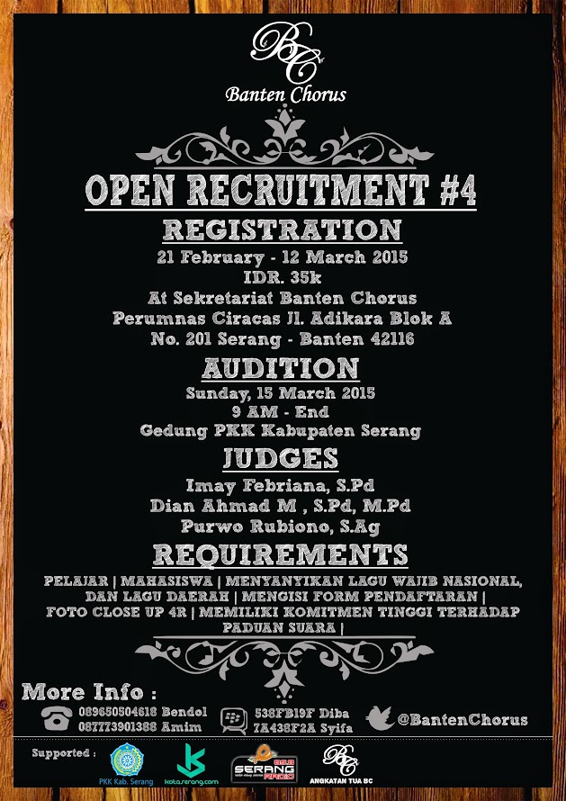 Open Recruitment Banten Chorus Generation 4