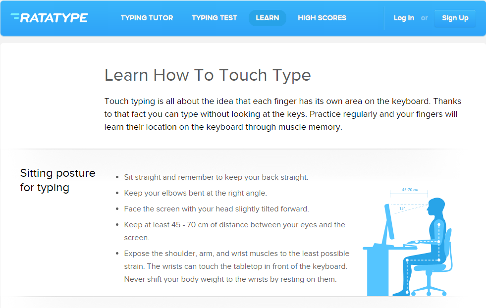 Learn the basics of touch typing with KeyBlaze - YouTube