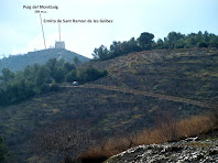L'ermita de Sant Ramon des de l'antic Camí de Sant Boi a Torrelles