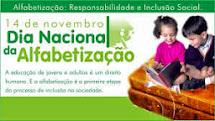 14/11 - DIA NACIONAL DA ALFABETIZAÇÃO