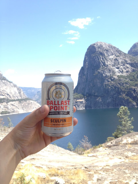 Hetch Hetchy Reservoir w/ Sculpin IPA | I'm back from California and what an adventure it was!  The picture above was taken in Hetch Hetchy in the NW section of Yosemite National Park.   It was another incredible visit to one of the most beautiful places on earth.  Though California is experiencing a very bad drought right now, there is still much to see...and since they're short on water you can always pack beer!  I'll have a whole slew of pictures to come!  Check back soon <3