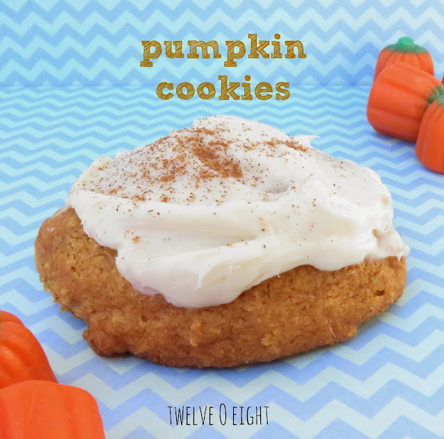 Pumpkin Cookies with Cream Cheese Frosting are one of my all time ...