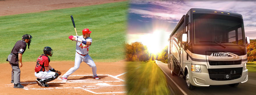 Sporting events and RV travels