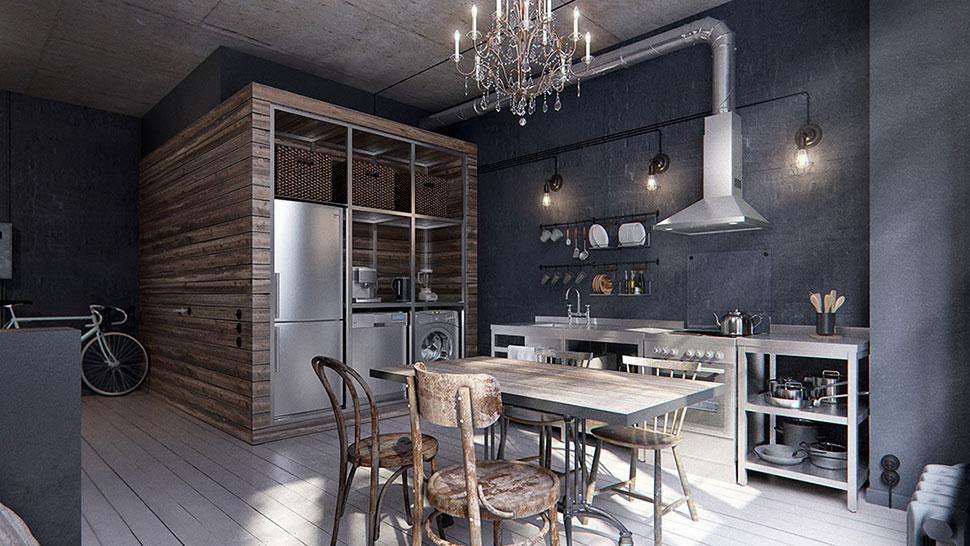 Decoracion Loft Industrial ~ Un mini piso tipo loft de estilo industrial  Canela y Naranja  Blog