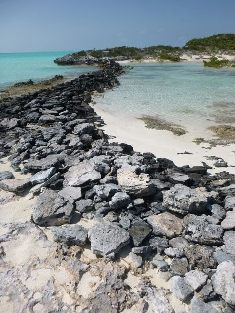 hiking causeway bridge near warderick wells butterfly beach exuma land and sea park