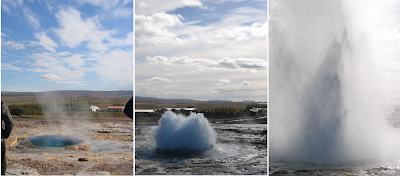 The Great Geysir in South Iceland. Erupts at Regular Intervals Every 10 Minutes or so and its White Column of Boiling Water Can Reach as High as 20-30 Metres