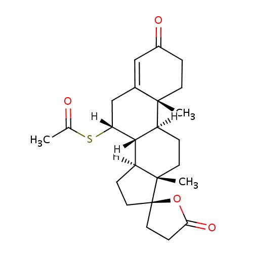 Struktur Kimia Spironolaktonn (Spironolactone / Spironolacton)