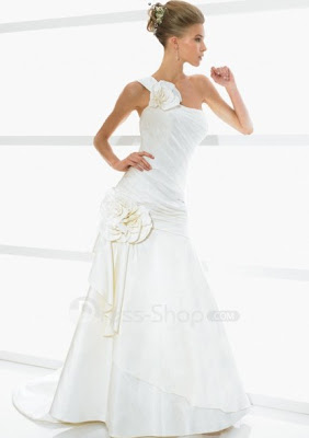 Chapel-Train-Fashion-One-shoulder-Taffeta-A-line-2011-Informal-Wedding-Dresses